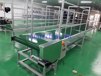 Băng tải PVC khung nhôm định hình dài 5 mét