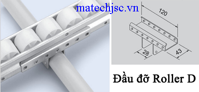 Đầu đỡ roller D GP-D ( Placon support metal D )