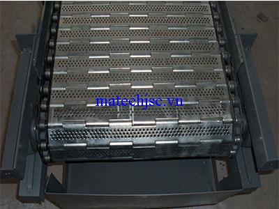Băng tải xích con lăn inox khung thép sơn tĩnh điện