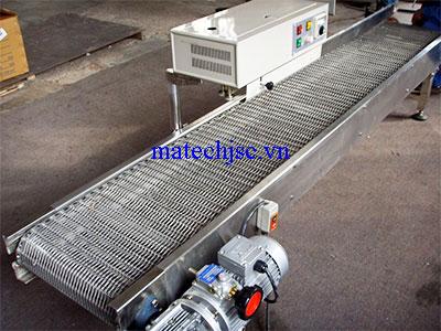 Băng tải xích lưới inox khung inox