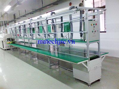 Băng truyền PVC có hệ thống hút khí hàn