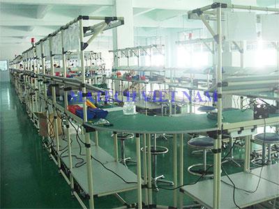Bàn thao tác ống thép bọc nhựa sản xuất điện thoại