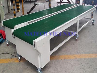 Băng tải PVC khung thép tải nặng