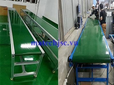 Băng tải PVC khung nhôm, khung thép phẳng