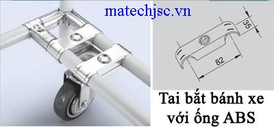 Tai bắt bánh xe với ống ABS ( Caster mount )
